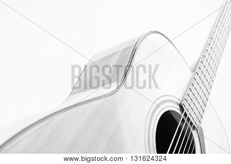 Guitar convert a black-and-white photographs and high key photography.