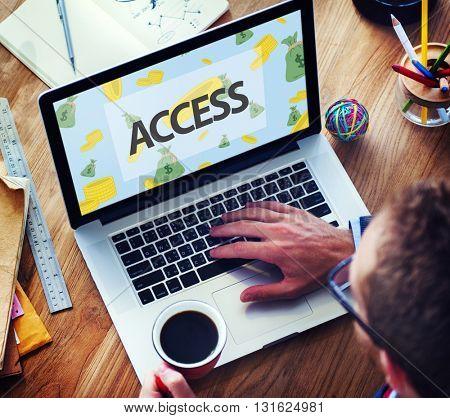 Finance Economics Access Affluent Investment Concept
