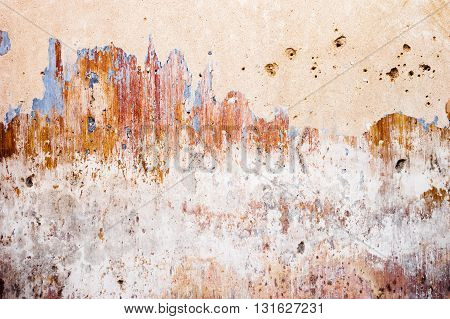 GRUNGE WALL TEXTURE,  OLD, SCRATCHED, COLOR PLASTER