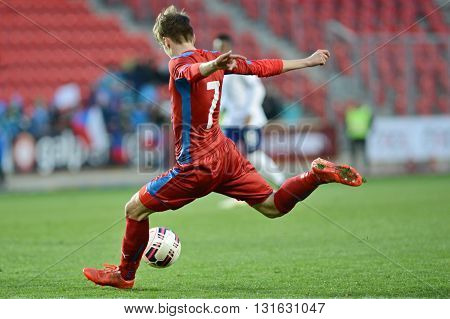 PRAGUE 31/03/2015 _ David Houska. Friendly match Czech Reublic U21 - Portugal U21