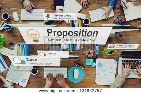 Proposition Proposal Solution Strategy Action Concept