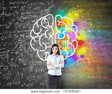 Different Brains Sides Sketch