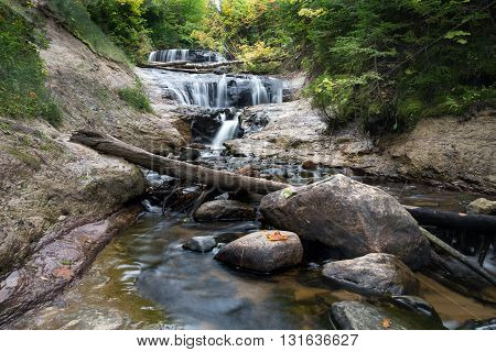 Sable Falls is part of Pictured Rocks National Lakeshore in the upper peninsula of Michigan