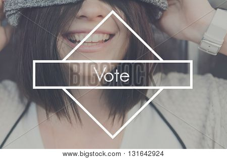 Vote Election Political Poll Voter Voting Campaign Concept