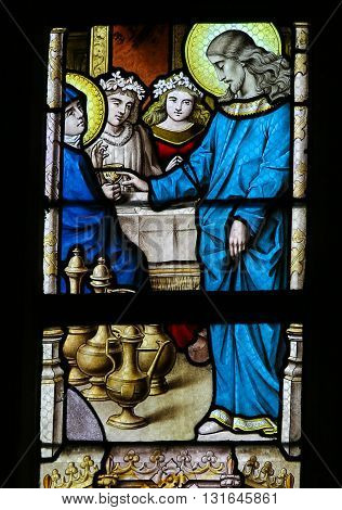 Stained Glass - Marriage At Cana