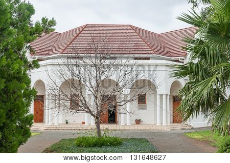 MIDDELBURG SOUTH AFRICA - MARCH 8 2016: The Klaasen Saal hall of the Dutch Reformed Mother Church in Middelburg in the Eastern Cape Karoo Region was inaugurated in 1940