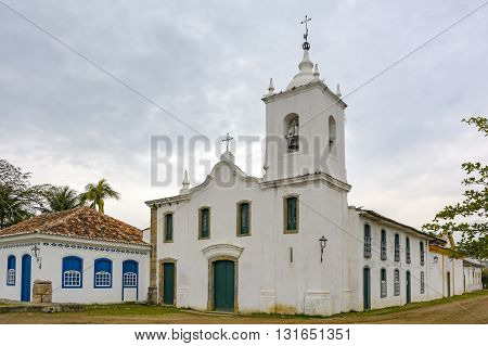 History Church of Our Lady of Sorrows built in 1800 in the historic city of Paraty also by women from the local aristocracy