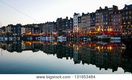 Evening In Honfleur Harbor, France (2)