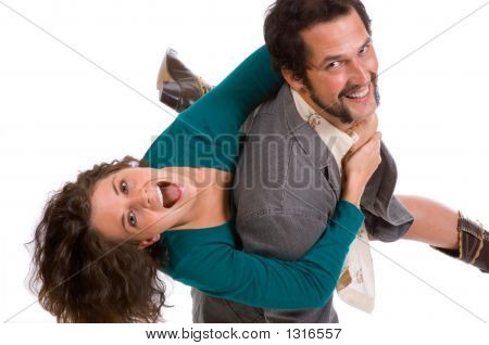 Happy Young Couple - Goofing Off