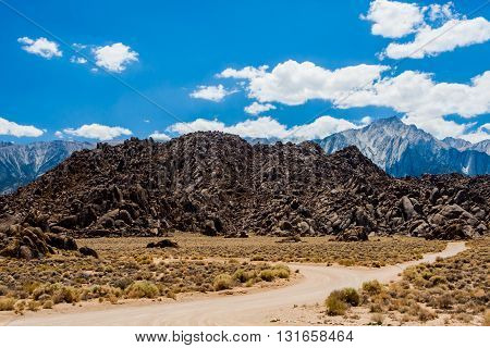 Alabama Hills Rock Formation, Sierra Nevada