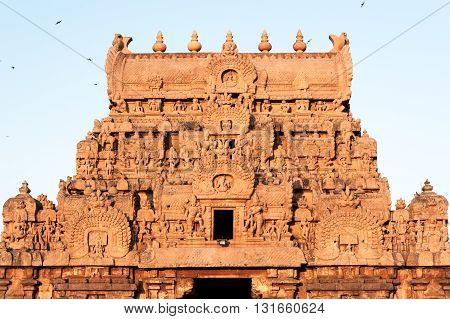 Brihadeshwara Temple entrance in Thanjavur (Tanjore), India