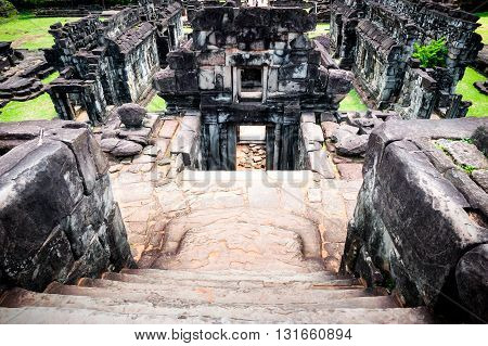 Ancient temples ruins in Angkor complex, Cambodia