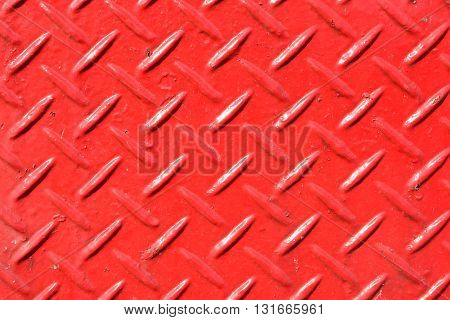 Aluminium dark (red)  list with rhombus shapes