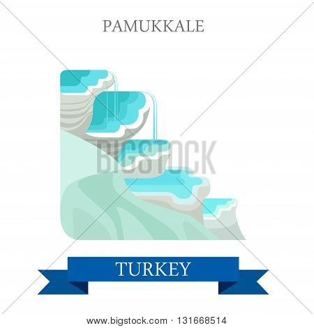 Pamukkale in Turkey attraction tourist attraction landmark