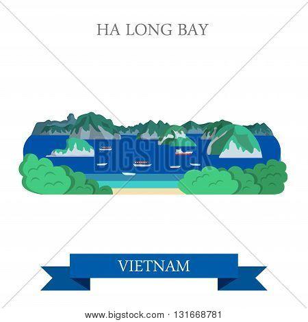 Ha Long Bay in Vietnam attraction tourist attraction landmark