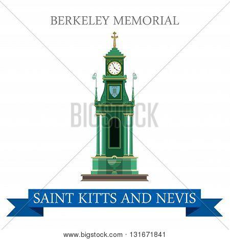Berkeley Memorial Saint Kitts and Nevis vector flat attraction