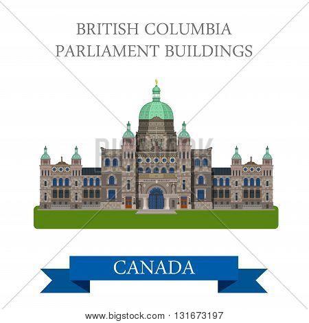 British Columbia Parliament Buildings Canada vector attraction