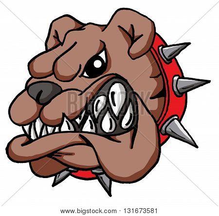 Vector Cartoon of a Cartoon Bulldog Face
