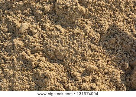 closeup of sand pattern , sand texture