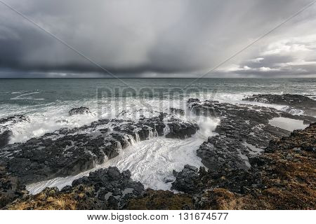 Seascape In Western Iceland