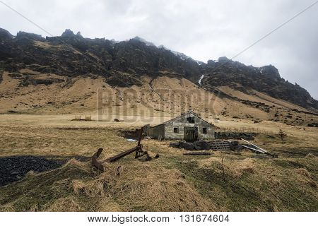 Abandoned House In Southern Iceland