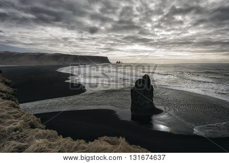 Seascape In Southern Iceland