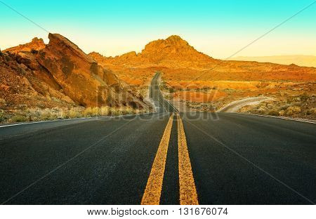 Surface of Driveway Valley of Fire State Park Nevada USA