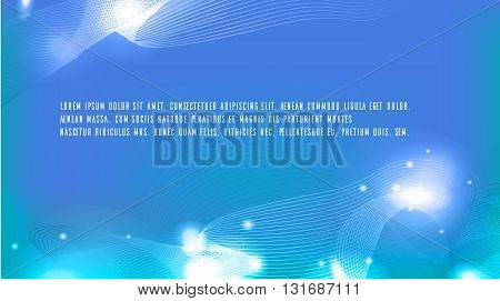 Vector illustration of a metamorphosis waves, sparks and place for text. Template for presentations, backgrounds, postcards and your design