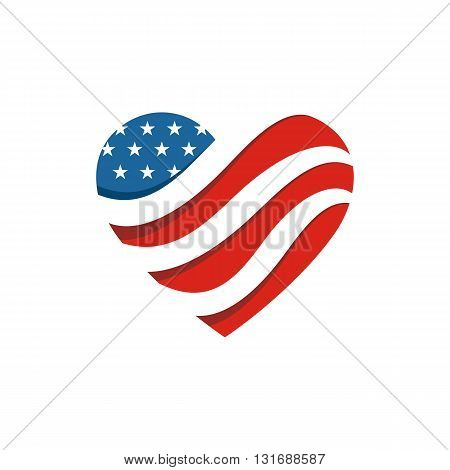 Abstract Design Logo American Flag logo Symbol Country Star Liberty Concept People Vector