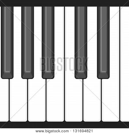 Octave Piano key, keyboard seamless pattern design for application and game