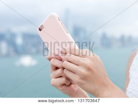 Woma send sms on cellphone poster