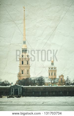 Peter And Paul Fortress,  Saint-petersburg, Vintage