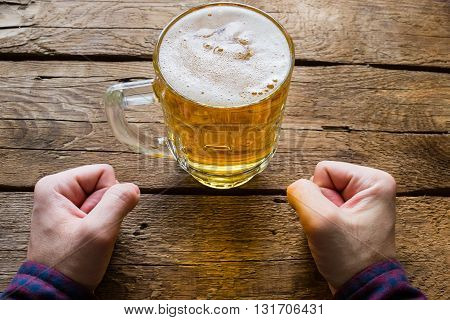 Man Takes Willpower And Not Drink Beer