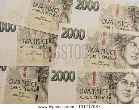 2000 Czech Koruna Banknotes