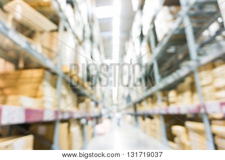 Row Of Interior Store Blur Background
