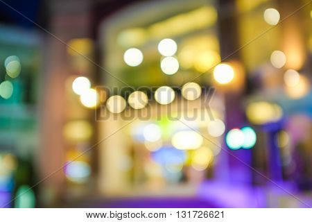 Blur Home Mart Store With Bokeh