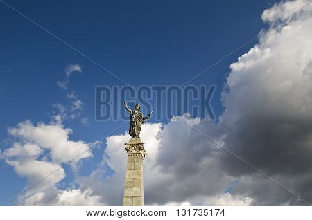 Monument of Freedom in the city Ruse Bulgaria