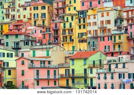 Traditional Italian Colorful Houses, Cinque Terre, Italy