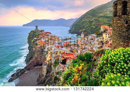 Vernazza In Cinque Terre, Liguria, Italy