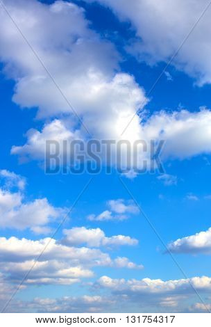 background sky with clouds stratosphere, summer, sun
