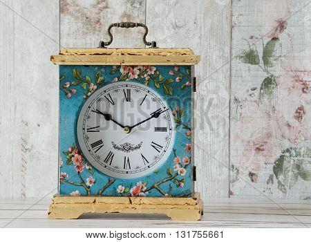 Decoupaged Clock