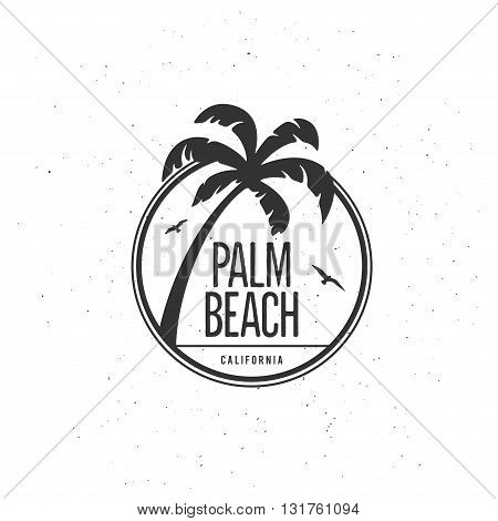 California beach t-shirt vector graphics. California related apparel design. Vintage style illustration.