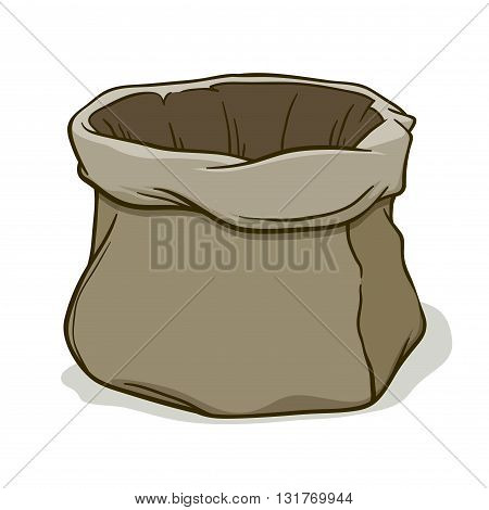 Vector stock of empty canvas sack hand drawing