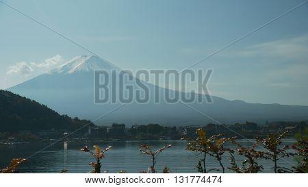 Mount Fuji and Lake Kawaguchi part (Kawaguchi) - Japan
