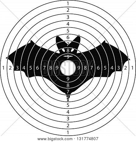 shooting target bat for the shooting range small arms made in the vector