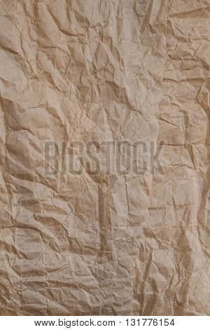 Crumpled brown paper texture. crumpled paper. crumpled texture