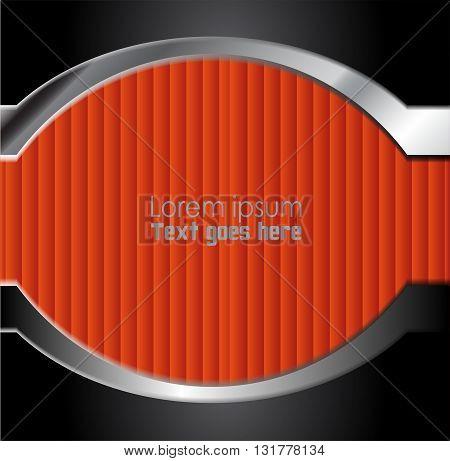 Orange paper background overlap dimension vector illustration message board for text and message design modern website