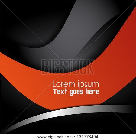 Abstract Orange, black background design vector  template