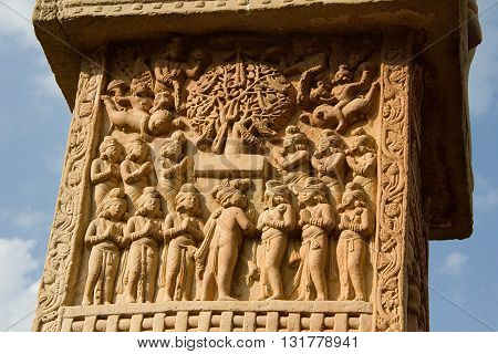 Visit to Stupa at Sanchi near Bhopal Madhya Pradesh India Asia