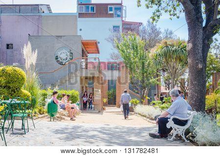 Valparaiso, Chile - November 01 2014: Pablo Neruda House, La Sebastiana At Valparaiso..